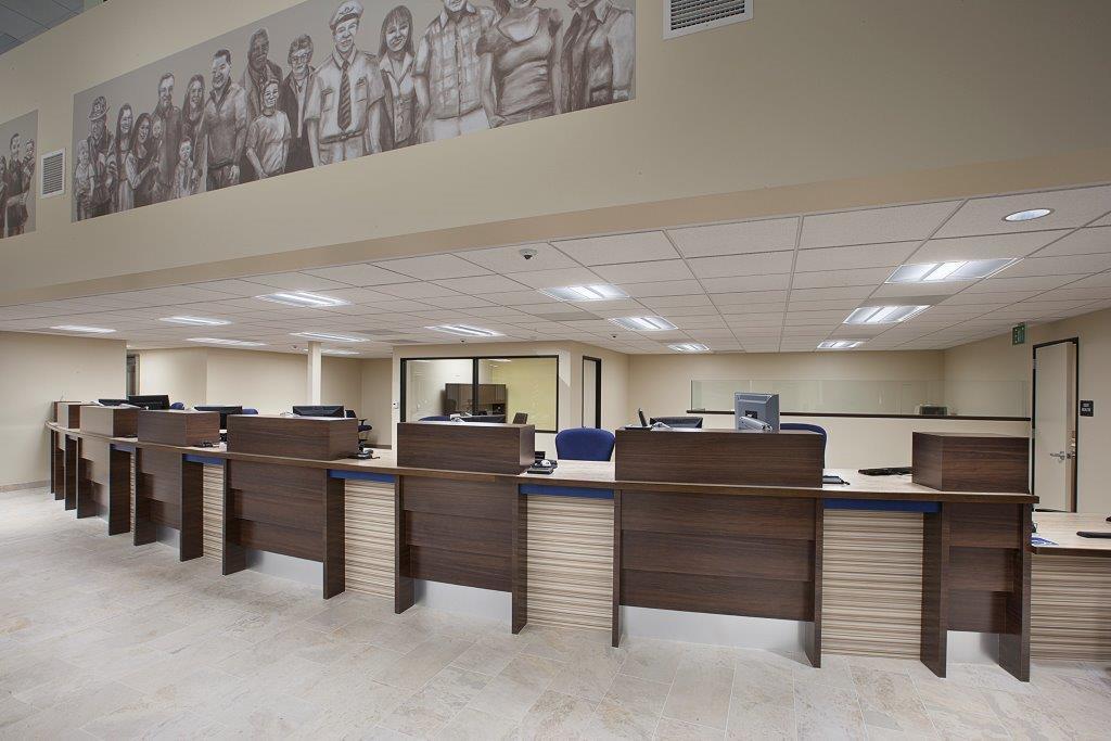 Harbor Federal Credit Union teller area