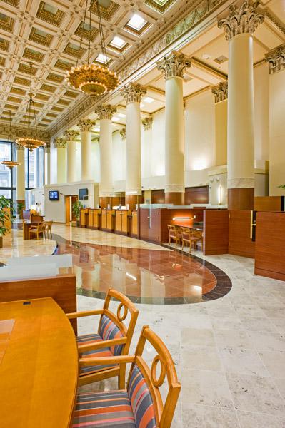 credit union interior building