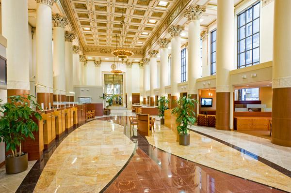 bank interior layout