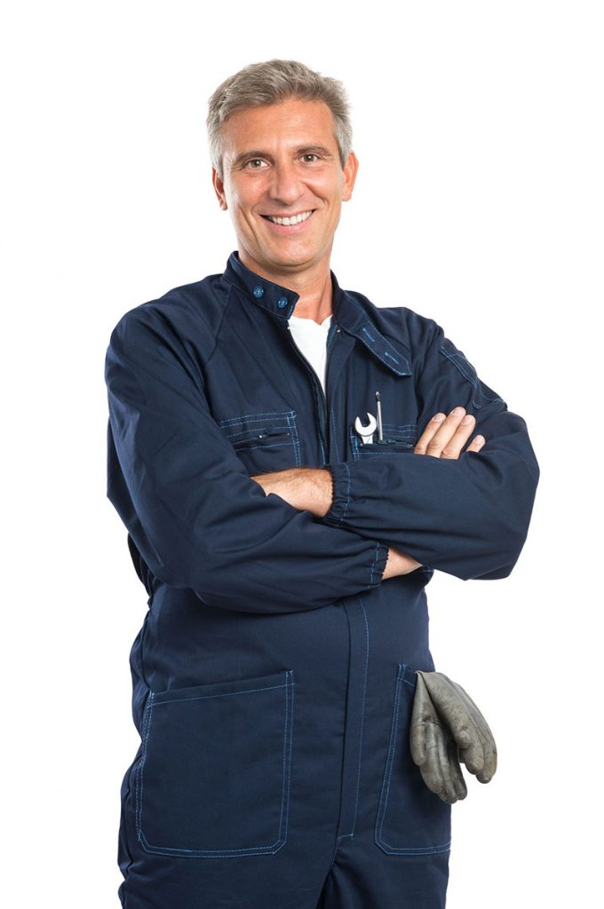 Technician smiling with arms crossed